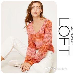 NWT LOFT Space Dye Sweater Sz L $79.50!